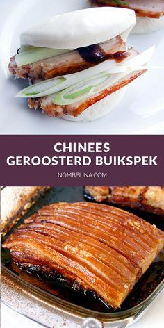 Chinees geroosterd buikspek. #recept #varkensvlees #krokant