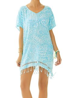 Heading to the pool or the beach? Grab this fun Lilly Pulitzer Avette Caftan Cover-Up! #AshworthPrimandProperLoves
