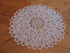 Ravelry: Hospitality Doily Thread Crochet pattern by Dot Drake Crochet Tablecloth Pattern, Free Crochet Doily Patterns, Crochet Squares, Crochet Motif, Diy Crochet, Crochet Doilies, Crochet Flowers, Crochet Rugs, Crochet Ideas
