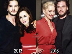 ❥ Kit Harington and Emilia Clarke 2013 - 2018