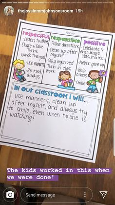 Social Contract, Following Directions, Positive Behavior, Always Smile, Staying Organized, Manners, Never Give Up, No Response, Encouragement