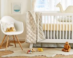We love the modern and neutral styling of this fab nursery from @polkadotpeacock!