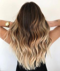 20 On-Trend Brown to Blonde Balayage Looks That Will Make You Jealous Ombre Hair ombre wavy hair Brown To Blonde Balayage, Brown Blonde Hair, Balayage Highlights, White Blonde, Balayage Hair Ombre, Balayage Hairstyle, Brunette Highlights, Medium Blonde, Blonde Ambre Hair
