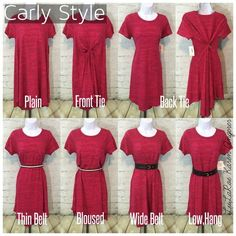 So many ways to wear the Carly dress!