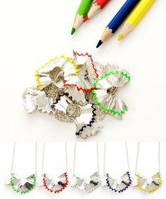 Pencil Shavings Necklace