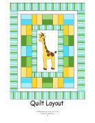 Giraffe Baby Quilt Pattern -free pdf pattern