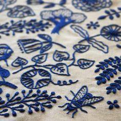 Gorgeous embroidery by Yumiko Higuchi.