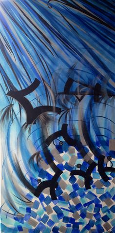 Escape into the blue-Original large acrylic painting by EmmaJLock  http://m.facebook.com/EmmaJLock1976