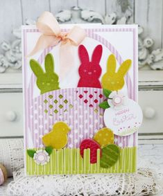 Easter Basket Card by Melissa Phillips for Papertrey Ink (February 2016)
