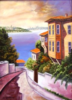 Ressam Mahmut YİĞİTOĞLU Sketches Of People, Drawing People, Paintings I Love, Oil Paintings, Wood Canvas, Watercolor Techniques, Famous Artists, Old Houses, Art Boards