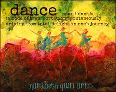 "11x14 (approximate)  archival print ""Dance"" of original colorful artwork by Marabeth Quin"