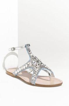 Miu Miu 'Starfish Crystal' Sandal