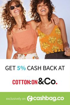Shop the hottest trends at Cotton On & Co + 5% cash back! #rewards #cashback #fashion (Offer available in the following country: South Africa) Special Deals, Spring Trends, Hot Springs, South Africa, Country, People, Cotton, Shopping, Fashion