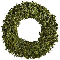 "Preserved Boxwood Wreath - 22"""
