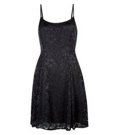 Black Lace Swing Dress