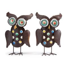 Bring great fall color to your room with our metal candle holders with owl motifs.  Light reflects through these great designs for a unique look!
