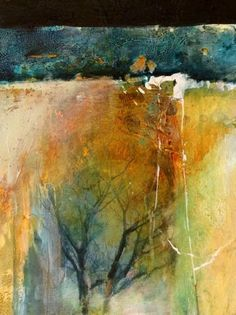 """Abstract Artists International: Contemporary Abstract Mixed Media Painting """"Below The Surface"""" by Intuitive Artist Joan Fullerton"""