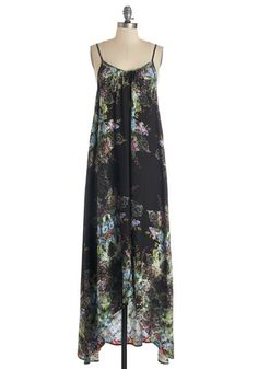 Wish Fulfillment Dress in Kaleidoscope - Maxi. From the moment you breeze into this gossamery maxi dress, you feel like youve been secretly searching for it your whole life. #black #modcloth