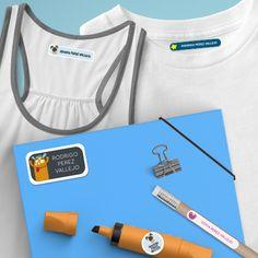Etiquetas para útiles y ropa