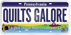 LICENSE PLATE OF THE DAY! The Quilt Shop at Miller's 2811 Lincoln Hwy East Ronks, PA 17572 (717) 687-8439 www.quiltshopatmillers.com https://www.facebook.com/quiltshopatmillers