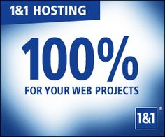 Unlimied websites hosting, 1 free domain, unlimited webspace, Over 120 Click&Build and Web Apps for only $0.99/month.