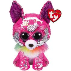 """23cm Yappy The Flippable Sequin Chihuahua Toy Ty Flippables Collection 9/"""""""