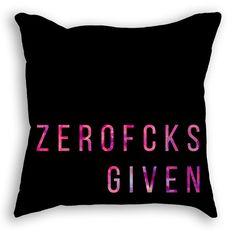 ZEROFCKS Given Pillow White or Black includes by owlHouseINK Cotton Fleece, White Pillows, Trending Outfits, Etsy, Vintage, Shopping, Black, Tops, Women