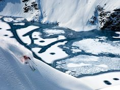 Picture of skier Chris Davenport skiing in Portillo, Chile
