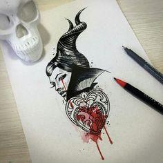 Maleficent tattoo idea