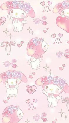 Hello Kitty Iphone Wallpaper, My Melody Wallpaper, Sanrio Wallpaper, Hippie Wallpaper, Soft Wallpaper, Kawaii Wallpaper, Cute Wallpaper Backgrounds, Wallpaper Iphone Cute, Aesthetic Iphone Wallpaper