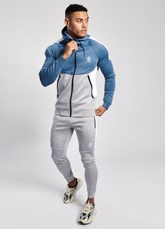 GK CHIBA POLY TRACKSUIT TOP - BLUE MIST – FTK Clothing Casual Outfits, Men Casual, Fashion Outfits, Mens Tracksuit Tops, Creative Fashion Photography, Pu Leather, Leather Jacket, Men's Sportswear, Slim Fit Joggers