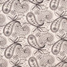 Cream/Black Paisley Cotton Embroidery http://www.moodfabrics.com/cream-black-paisley-cotton-embroidery-308181.html