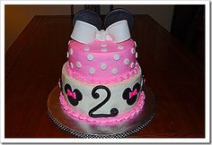 Making a Minnie Mouse cake this week--- maybe something like this