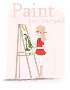 Wall Art Print Inspirational Art Paint door RoseHillDesignStudio
