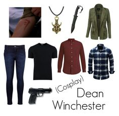 """""""Supernatural cosplay"""" by evdh04 on Polyvore featuring Levi's, LE3NO, All Black, Polo Ralph Lauren en Dolce&Gabbana"""