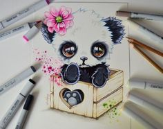 Panda in a Box by Lighane