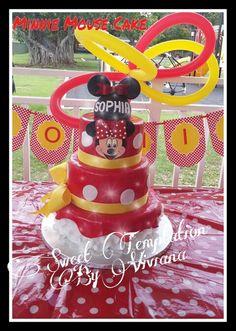 Minnie Mouse Cake Bizcocho de Minnie Mouse Red Minnie cake