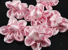 20pcs Ribbon Buns Flower Bows Appliques Wedding DIY Craft Upick (Pink) * You can find more details by visiting the image link.