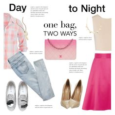 """Day to Night Handbag"" by janephoto ❤ liked on Polyvore featuring CORO, Alice + Olivia, Chiara Ferragni, Kurt Geiger, maurices, Charlotte Russe, Marc by Marc Jacobs, Chanel and onebagtwoways"
