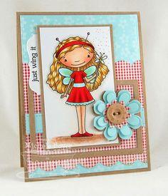 Doodle Garden Fluttering By; Spring Backgrounds; Blueprints 1 Die-namics; Mini Tabs Foursome Die-namics; Flower Medley Die-namics - Michele Boyer