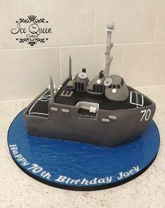 War ship wedding cake. Ice Queen Cakes Designer wedding & Celebration Cakes Liverpool, St Helens, Wigan & Warrington www.icequeencakes.co.uk