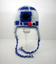 R2D2 Earflap Hat from Star Wars, please send size | CutieHats - Accessories on ArtFire