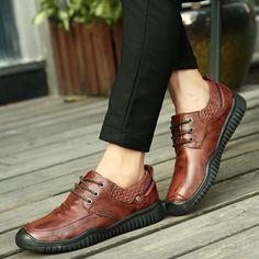 >> comprar aqui << Prelesty Marca de Lujo de Los Hombres Calientes del Invierno Zapatos de Moda Zapatos Casuales Masculinos Formales de Los Hombres de Cuero Genuino Aumento de la Altura