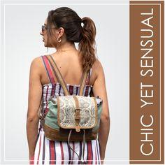 Myra Bag FOLDOVER BACKPACK BAG with Hairon