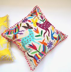 Would love this for my future Latin American guest room!  OTOMI PILLOW COVER - Multi Colour