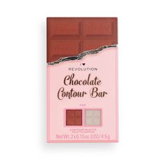 I Heart Revolution Chocolate Contour Palette | Revolution Beauty Official Site Face Contouring, Contouring And Highlighting, Chocolate Palette, Highlight And Contour Palette, Makeup Revolution London, Beauty Planet, Chocolate Squares, Makeup To Buy, Makeup Obsession