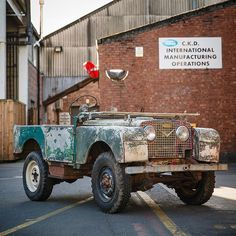 And here's Car Zero in exactly the same spot at Land Rover Solihull before work began..!