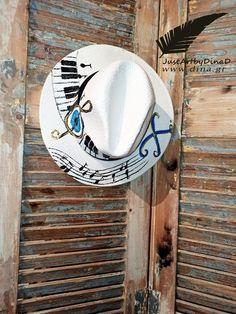 psathimo kapelo panama zografismeno mati notes pentagrammo Handmade Accessories, Handmade Shop, Panama, Cowboy Hats, Notes, Club, Shopping, Report Cards, Panama Hat