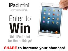 Make this the best Holiday ever! Win this HOT new iPad mini from Gimmie! And, get daily access to the best new freebies!...