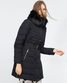 Image 1 of QUILTED FEATHER COAT from Zara
